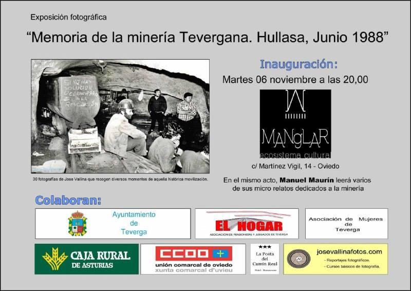 Expo  «Memoria de la minería Tevergana. HULLASA, junio 1988»